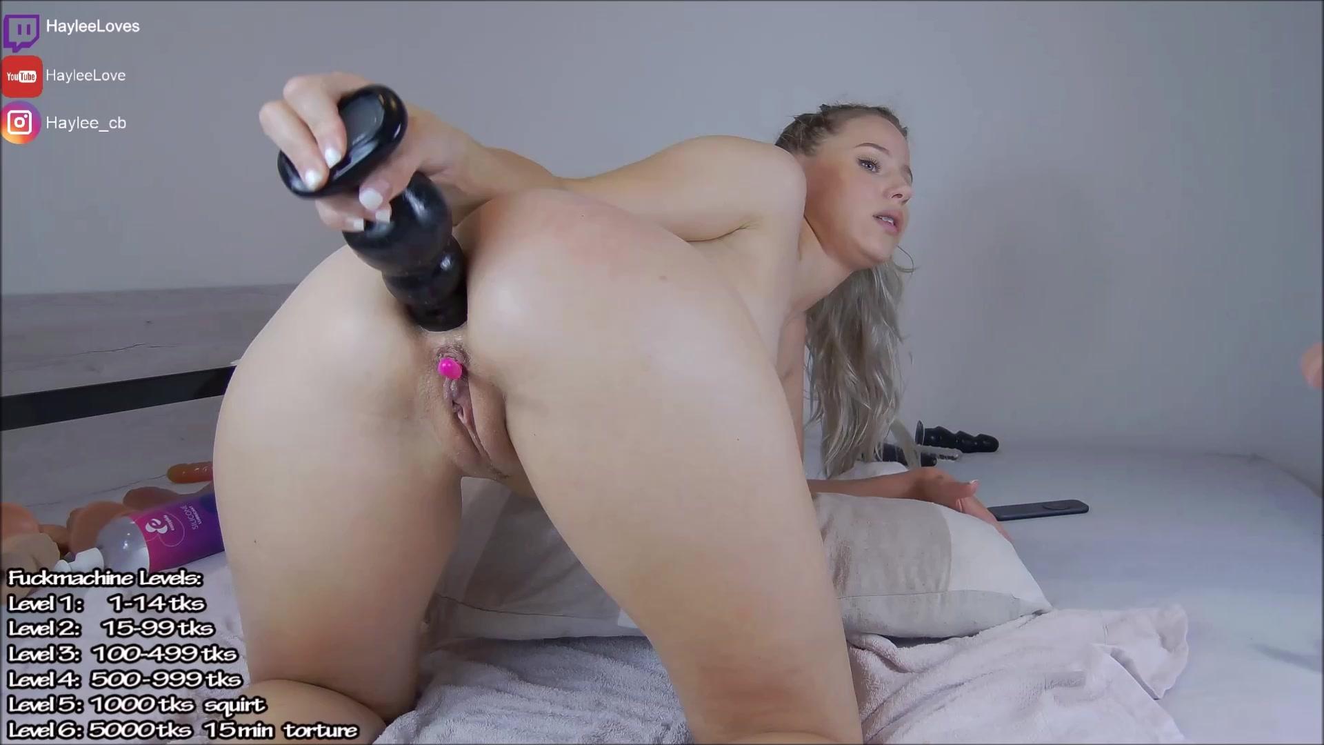 Blonde Big Tits Striptease