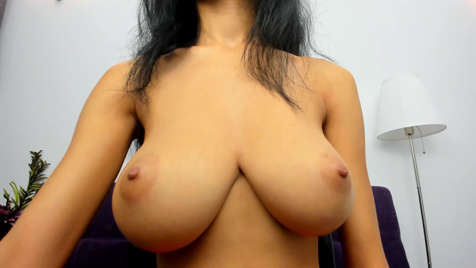 Natural Big Perky Tits Solo